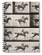 Jockey On A Galloping Horse Spiral Notebook