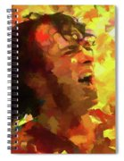 Joe Cocker Colorful Palette Knife Spiral Notebook