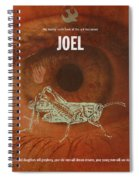 Joel Books Of The Bible Series Old Testament Minimal Poster Art Number 29 Spiral Notebook