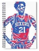 Joel Embiid Philadelphia Sixers Pixel Art 10 Spiral Notebook