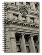 John Adams Courthouse Boston Ma Black And White Spiral Notebook