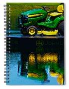John Deere Mows The Water No 2 Spiral Notebook