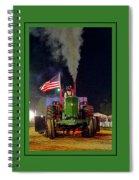 John Deere Tractor Pull Poster Spiral Notebook
