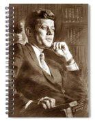 John Fitzgerald Kennedy Spiral Notebook
