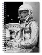 John Glenn Wearing A Space Suit Spiral Notebook