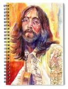 John Lennon Watercolor Spiral Notebook