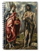 John The Baptist And Saint John The Evangelist Spiral Notebook