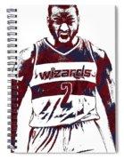 John Wall Washington Wizards Pixel Art 5 Spiral Notebook