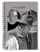 John Wayne And Director Howard Hawks  Alienated Rio Lobo Old Tucson Arizona 1970-2016 Spiral Notebook