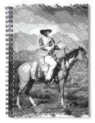 John Wayne At The Ready On Horseback Pa 01 Spiral Notebook