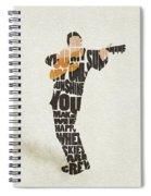 Johnny Cash Typography Art Spiral Notebook
