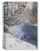 Johnson Vermont In Spring Snow Storm Spiral Notebook