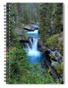 Johnston Canyon Falls Hike Lower Falls Spiral Notebook