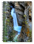 Johnston Canyon Falls Hike Upper Falls Spiral Notebook