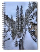 Johnston Canyon Winter Boardwalk Spiral Notebook