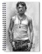 Johny Depp Spiral Notebook