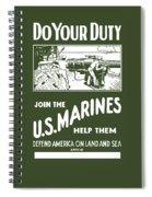 Join The Us Marines Spiral Notebook