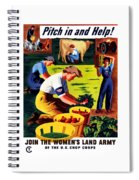 Join The Women's Land Army Spiral Notebook