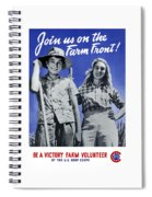 Join Us On The Farm Front Spiral Notebook