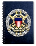 Joint Chiefs Of Staff - J C S Identification Badge On Blue Velvet Spiral Notebook