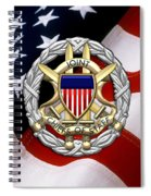 Joint Chiefs Of Staff - J C S Identification Badge Over U. S. Flag Spiral Notebook