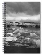 Jokulsarlon Glacier Lagoon Iceland 2041 Spiral Notebook