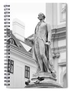 Josef Haydn In Black And White Spiral Notebook