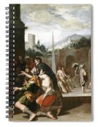 Joseph Orders Simeon's Imprisonment Spiral Notebook
