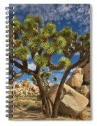 Joshua Tree And Blue Sky Spiral Notebook