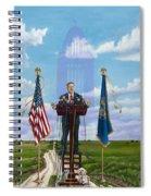 Journey Of A Governor Dave Heineman Spiral Notebook