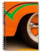 Joy Ride - Street Rod In Orange, Red, And Green Spiral Notebook