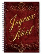 Joyeux Noel In Red And Gold Spiral Notebook