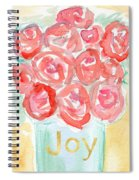 Joyful Roses- Art By Linda Woods Spiral Notebook
