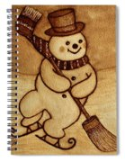 Joyful Snowman  Coffee Paintings Spiral Notebook