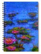 Joyful State - Modern Impressionistic Art - Palette Knife Landscape Painting Spiral Notebook
