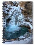 Johnston Canyon Winter Delight Spiral Notebook