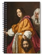Judith Holding The Head Of Holofernes Spiral Notebook