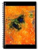 Jug In Black And Orange Spiral Notebook