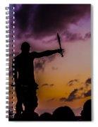 Juggler At Sunset Spiral Notebook
