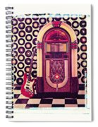 Juke Box Polaroid Transfer Spiral Notebook