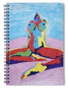 Julie Anderson Leaning Back Spiral Notebook