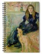 Julie Manet And Her Greyhound Laerte Spiral Notebook