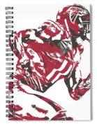 Julio Jones Atlanta Falcons Pixel Art 11 Spiral Notebook