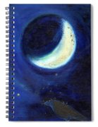 July Moon Spiral Notebook