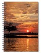 July Summer Sunset At Detroit Point Spiral Notebook