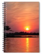 July Sunset At Detroit Point Spiral Notebook