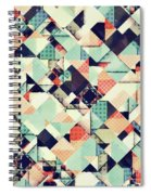 Jumble Of Colors And Texture Spiral Notebook