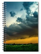 June Comes In With A Boom 012 Spiral Notebook