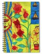 June July August Spiral Notebook