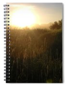 June Sunrise Over Dew On Grass Spiral Notebook